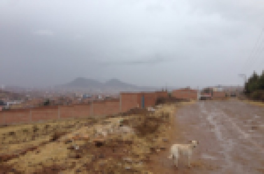 Oruro también amaneció con mucha nieve que obligó a suspender clases. Foto: El Deber