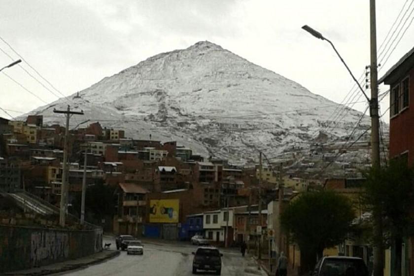 Potosí es una de las ciudades donde cayó mucha nieve. Foto: Gentileza