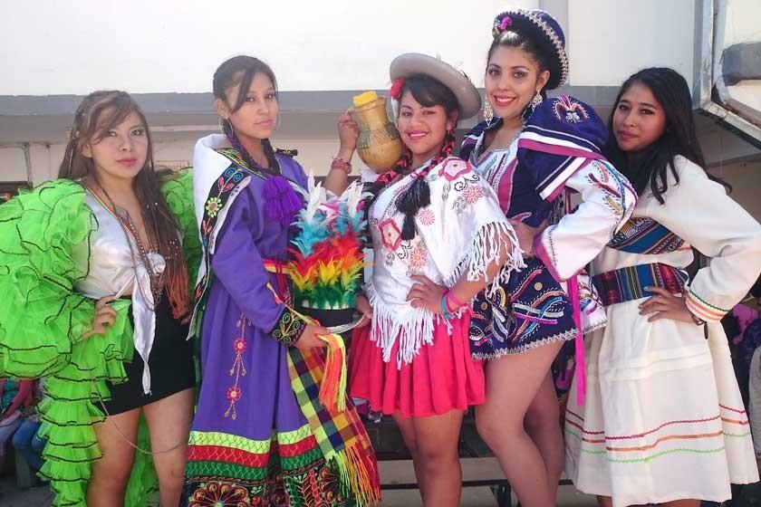 Yesenia Quispe, Jenny Maldonado, Raquel Torres, Elena Antequera y Lizbeth Cossío.