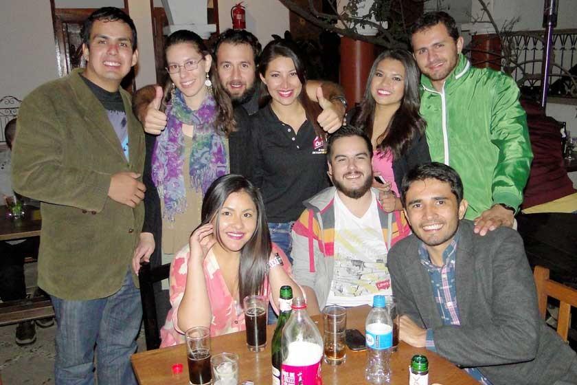 Arriba: Sergio Gutiérrez, Luzwara Gonzales, Luís Jordán, Nicole Rivas, Rosario Limón y Gian Carlo Arab. Abajo: Ana Nava