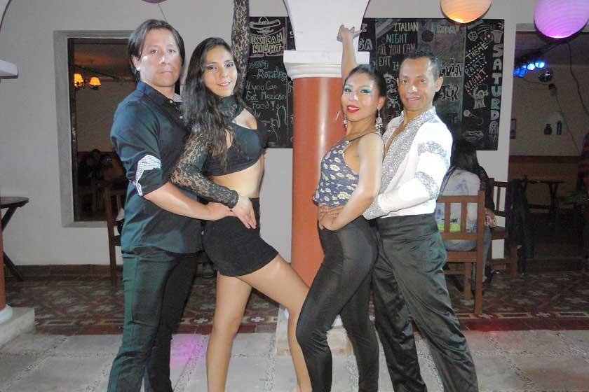 Dennis Zamorano, Rosita Méndez, Laura Díaz y Manuel Urteaga.
