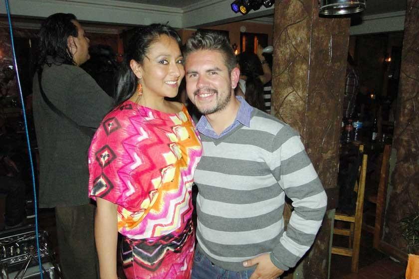 Beth Rodas y Ricardo Espinoza.