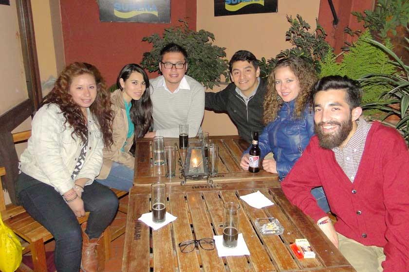 Sara Estrada Maríagar Molina, Jhonny Hurtado, Lorito Borja, Lucy Quiroga  y Mai Kehul Gauna.