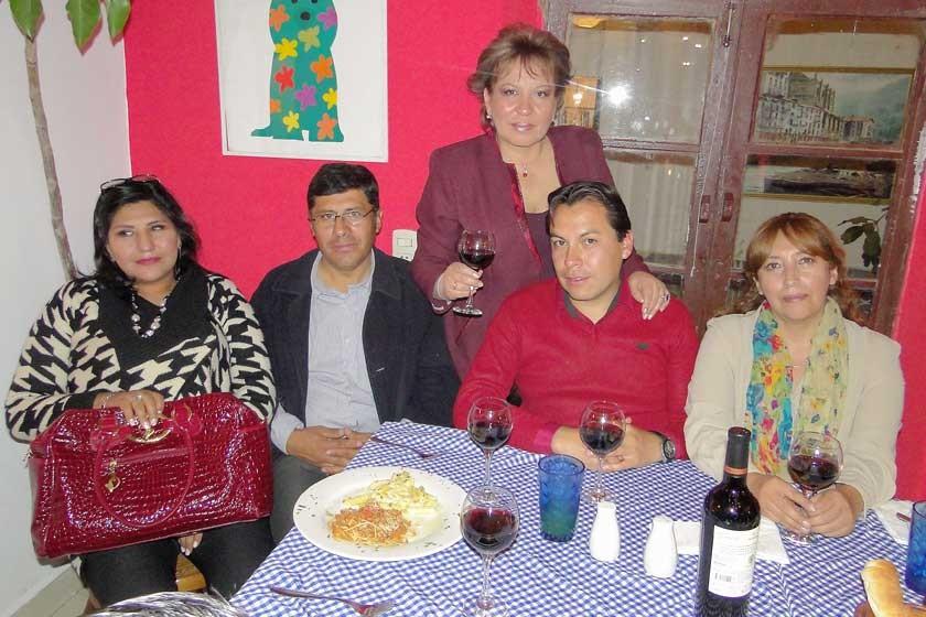 Maritza Blanco, Nelson Barrios, Sonia Avilés, Edson Gil y Zaida Miranda.