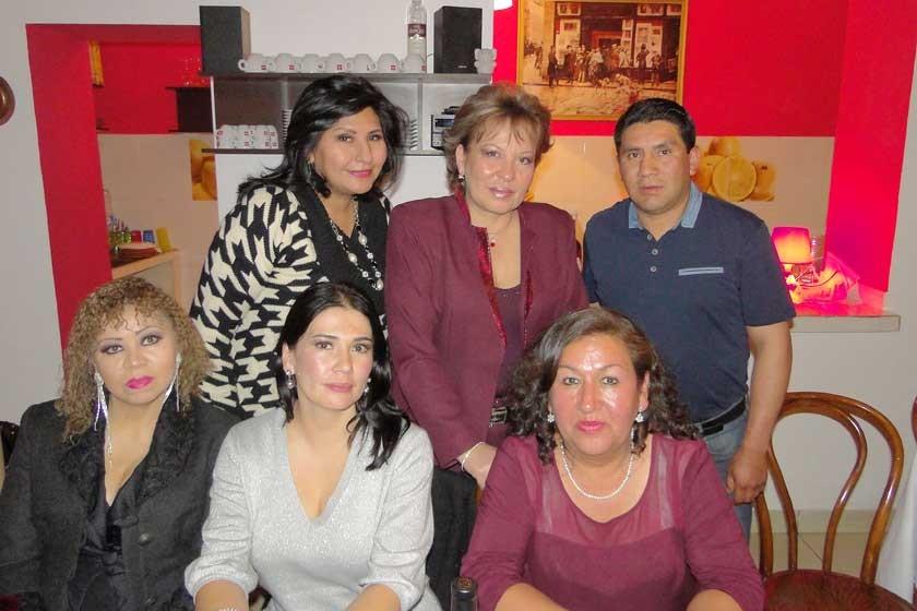 Arriba: Maritza Blanco, Sonia Avilés y Roberto Carlos Cueto. Abajo: Joinet Chavare, Aida Loayza y Blanca Quevedo.