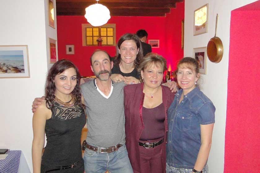 Fatimah Kheder, Marcelo Villa, Alessandra Ciani, Sonia Avilés y Mónica Calabi