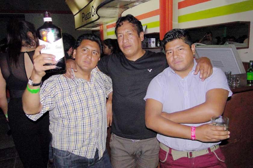 Yamil, Jesús y Leandro.