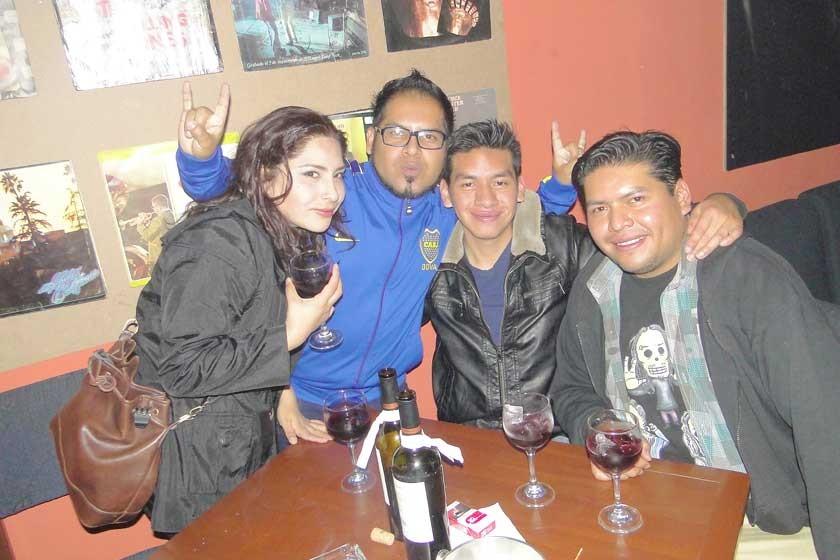 Carol Celis, Israel Flores, Miguel Ángel Navarro y Ramiro Navarro