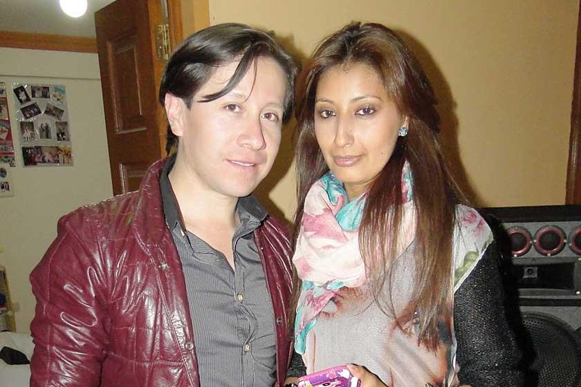Dennis Zamorano y Karen Montaño.