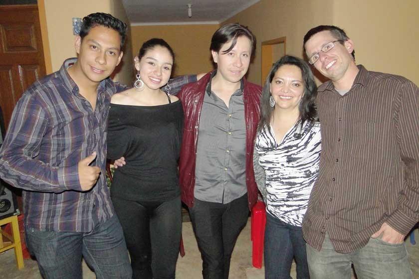Ramiro Neil, Melissa Alcalá, Dennis Zamorano, Silvana Huici y Thomas Forster.