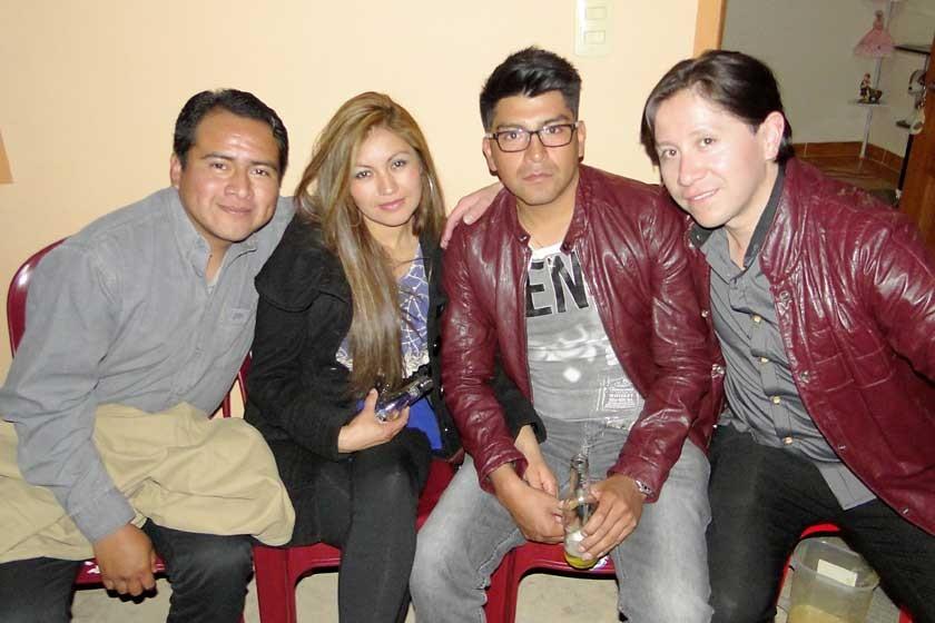 Cesar Pérez, Susy Loayza, Rubén Saavedra y Dennis Zamorano.