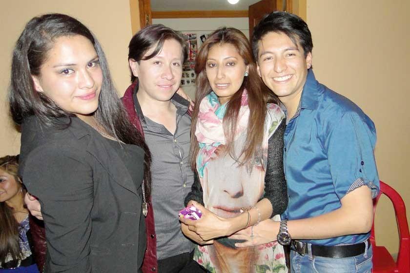 Melani Marañón, Dennis Zamorano, Karen Montaño e Israel Sahonero.
