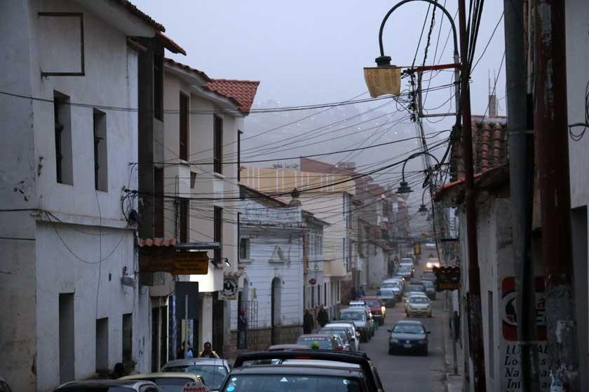 Polvareda inusual en Sucre
