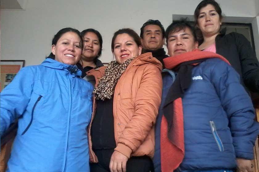 """Equipo de apoyo  del Sedeges para el """"VI Encuentro Nacional  de Familias Adoptivas""""."""