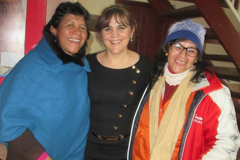 Celia Jordán, Fátima Delgadillo y Carmen Coffield.