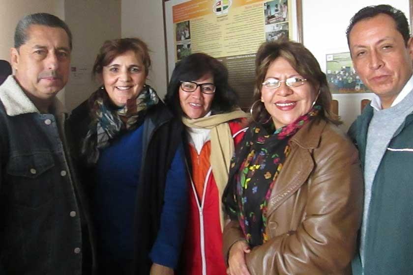 Gonzalo Rojas, Fátima Delgadillo, Carmen Coffield,  Emma Cazas y Miguel Castro.