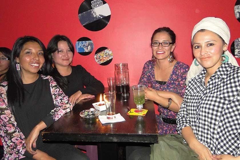 Estephany Poquechoque, Verónica Donoso, Esthela Fernández y Ana Leytón.