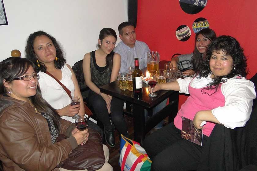 Palmira, Marisol, Samarah, Edward, Aleida y Elva.