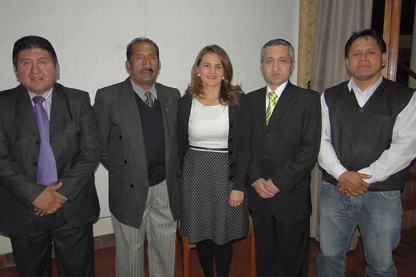 Ricardo Estrada, Alfonso Dávila, Ericka Díaz, Daniel Aldayuz y Rubén Montalván.