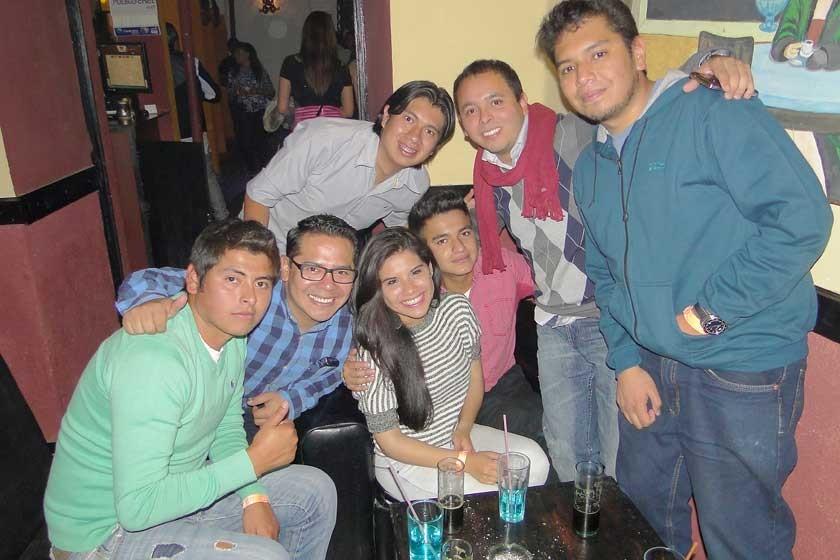 Miguel, Gabriel, Adriana, Yerson, Toño, Germán y Sergio.
