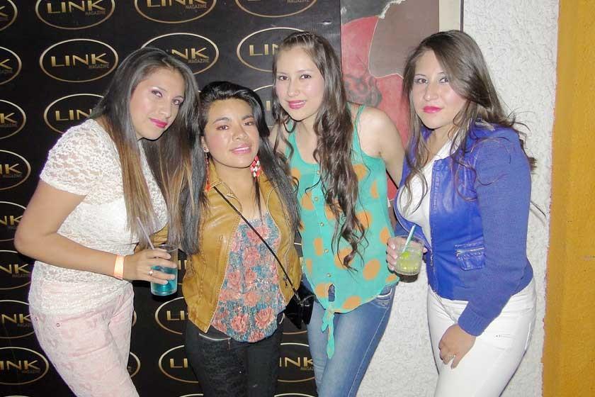 María Flores, Anelis Murillo, Isabel Díaz y Anabel Díaz.