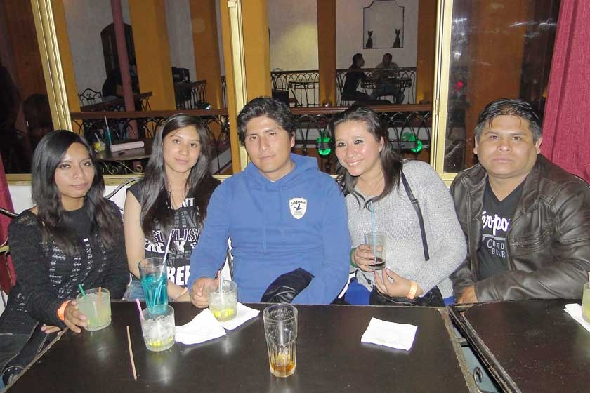 Jhomaly Guzmán, Paola Aguilar, Fabricio Méndez, Marcela Arancibia y Luis Torrelio.