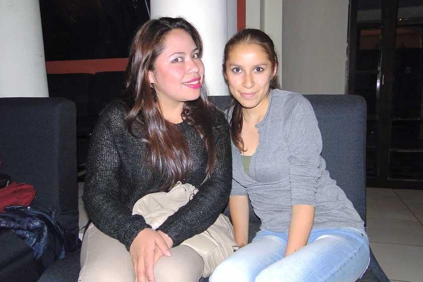 Cecilia Guamán y Claudia Sánchez.