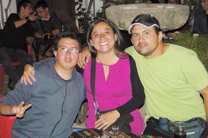 Ivo Kukoc, Valeria Torres y Damián Fenino.