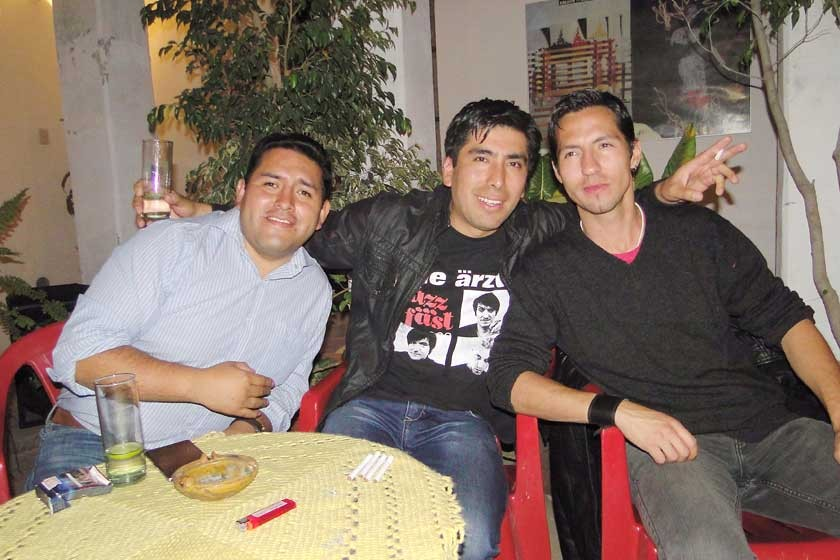 Rolando Ticona, Armin Delgado y Jonny Hofmann.