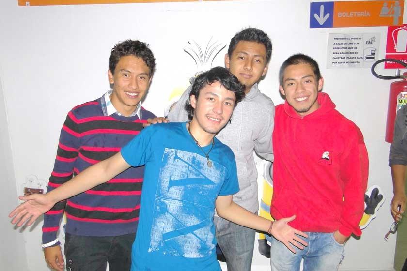 Daniel, Gabriel, Byron y Jorge.