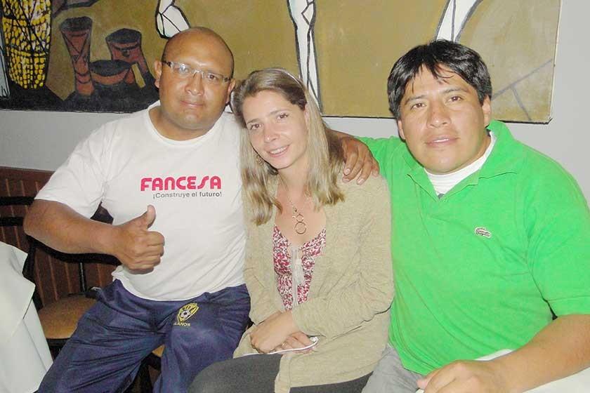 ETI: Roger Miranda, Ina Arce y Jesús Pereira.