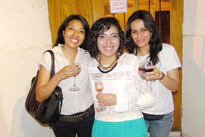 Estefany, Adeline y Melvi.