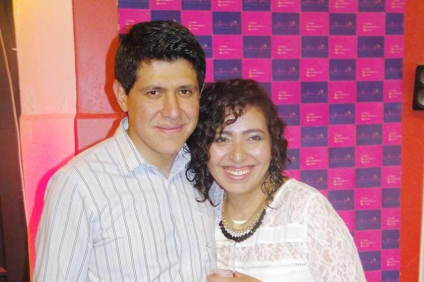 Iván Chirinos y Adeline Valdivia.