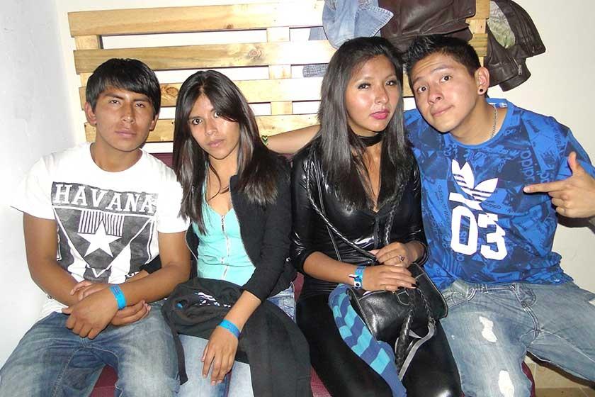 David Jesús, Gladys Salas, Lesly Paniagua y Jherson Cabrera.