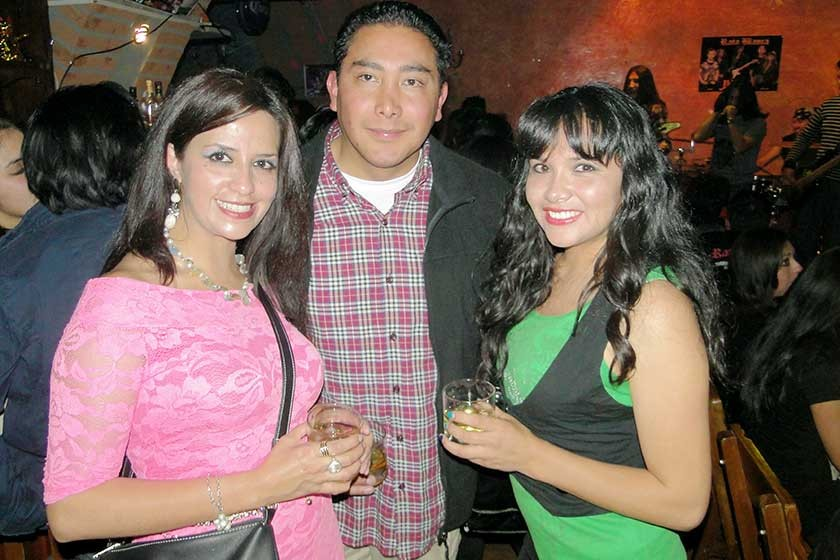 Valeria Orsolini, Rodrigo López y Consuelo Rodríguez.
