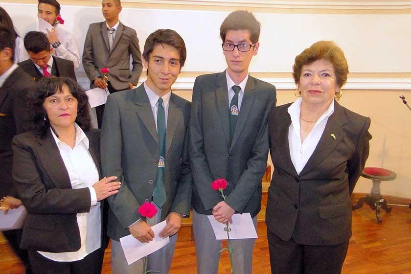 Natty Torricos, Andrés Villafán, Sebastián López y Ana María de Zamora.