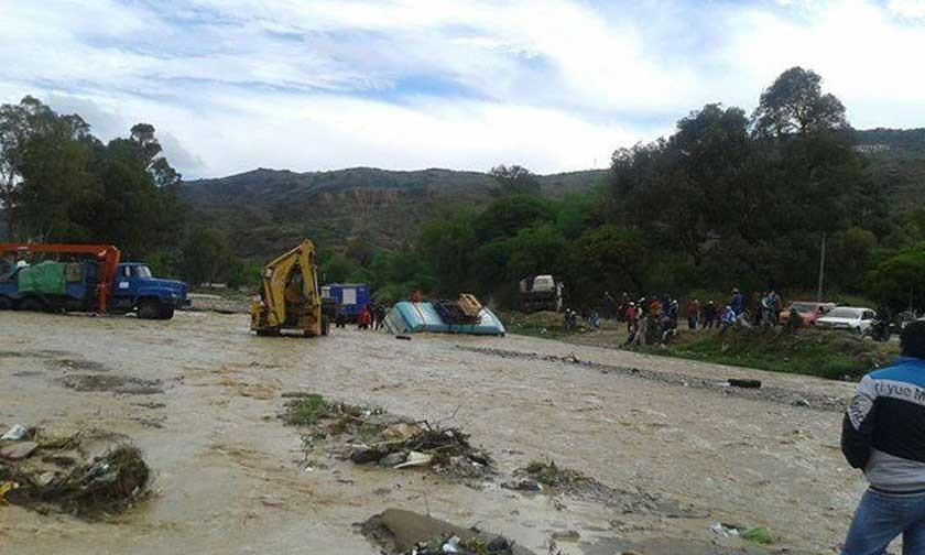 Emergencias en Yotala y Sucre tras las lluvias