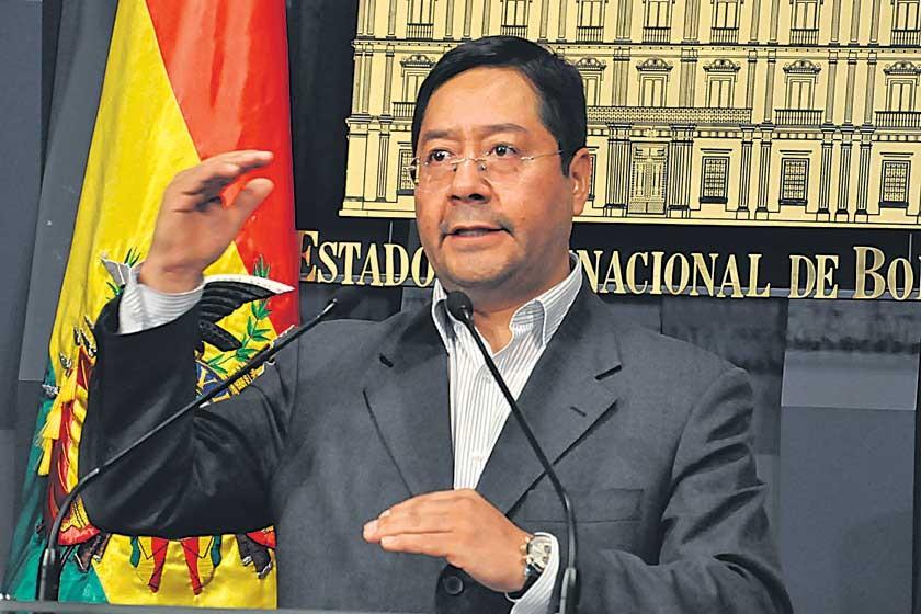 POSICIÓN. El ministro Arce desahució ayer el pedido de no pagar el doble aguinaldo.
