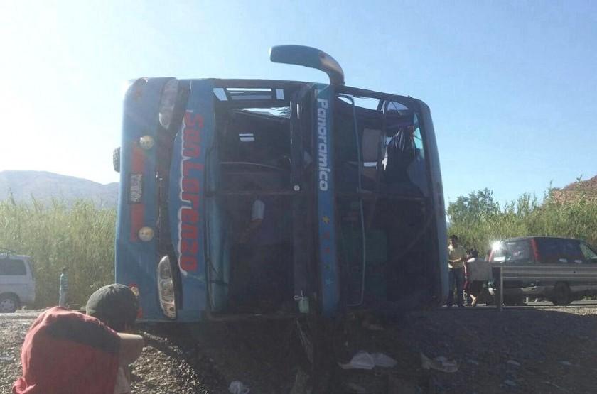 El accidente en Las Carreras dejó varios heridos. Foto: Gentileza