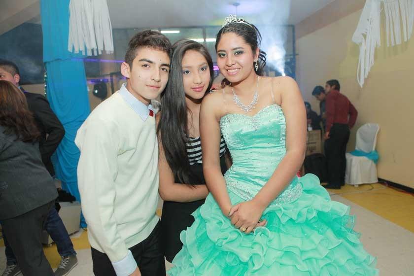 Cesar Martínez, Jhoseline Cruz y  Milenka Ballesteros.