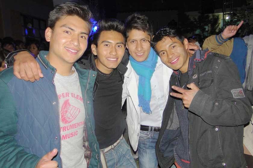 Pablo Quispe, Wilfredo Villca, Edgar Molina y Yelgro Armin.