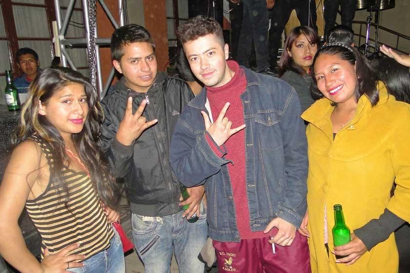 Rosario Ortiz, Evan Montalvo, Robert Araoz y Marioli Gonzales.