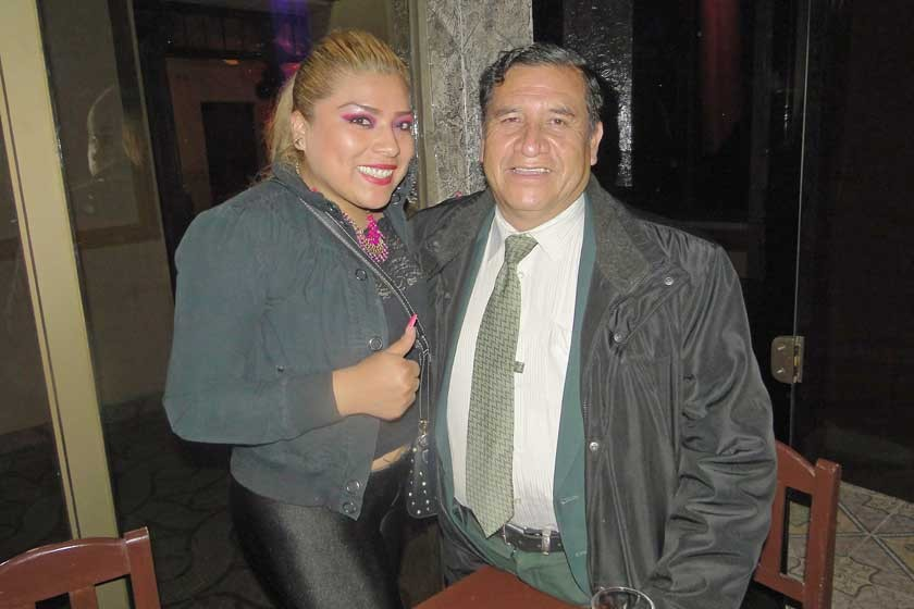 Claudia Linares y José Pinto.