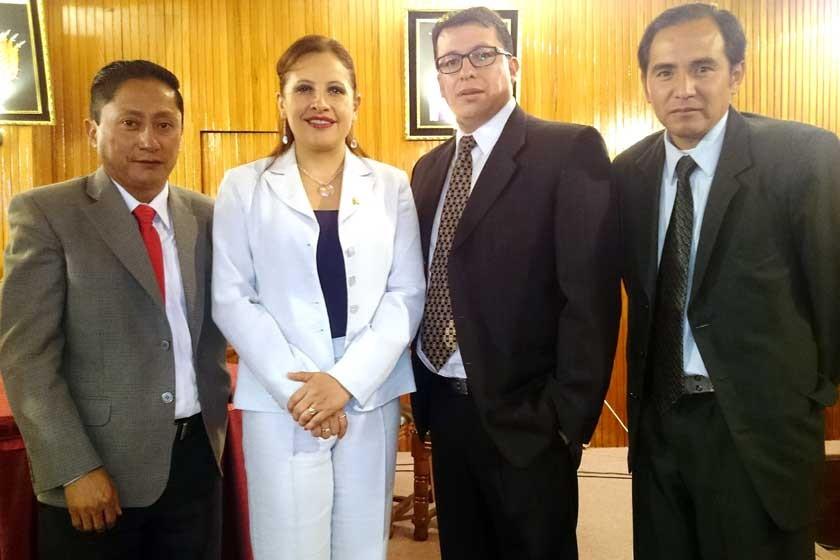 José Ruelas, Fabiola Cruz, Milton Marquiegui y Javier Arancibia.