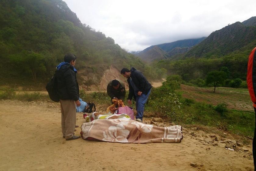 Una de las dos personas fallecidas tras el accidente. Foto: Radio Suprema