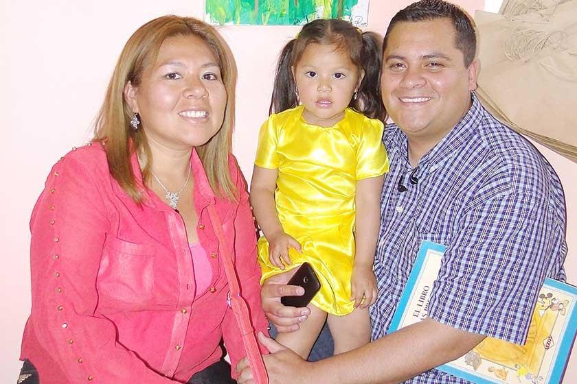 Neysa Díaz, Antonella Rodríguez  y Roque Rodríguez.
