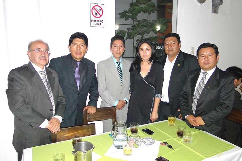 Alberto Sánchez, Boris Hurtado, Pablo Wayar, Laura Cardozo, Gustavo Pereira  y Miguel Fernández.