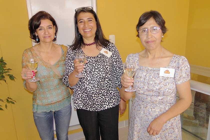 Kathia Zamora, Janeth Sánchez y Dilma Vargas.