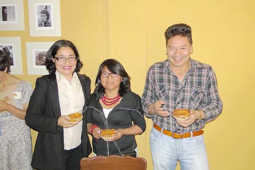 Margaret López, Marisol Flores y Alfredo Aguirre.