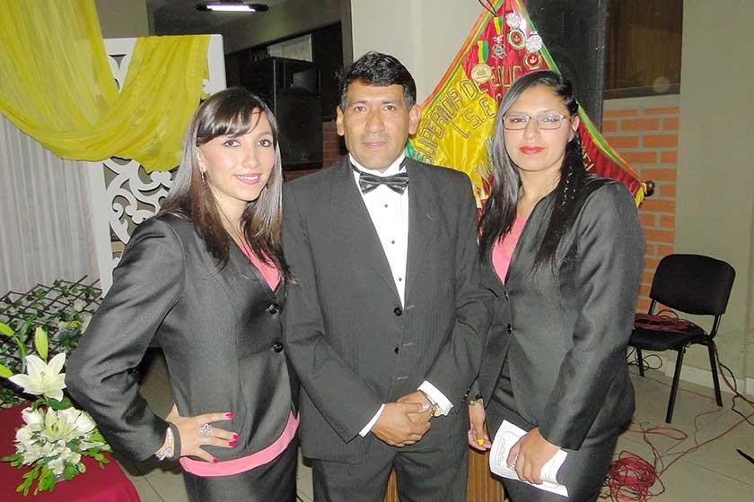 Ana Karina Ventura, Claudio Zurita y Erika Lora.